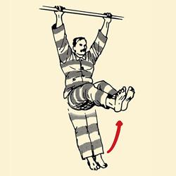 تمرینات وزن بدن کرانچ با بارفیکس