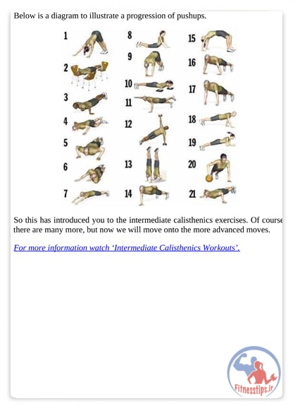 تمرینات کلیستنیکس