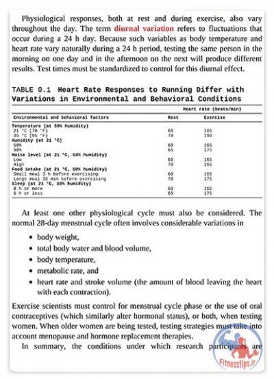 کتاب فیزیولوژی ورزش و فعالیت بدنی
