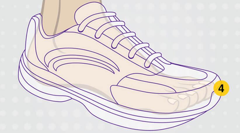 کفشها باید اندازه قد پا باشند