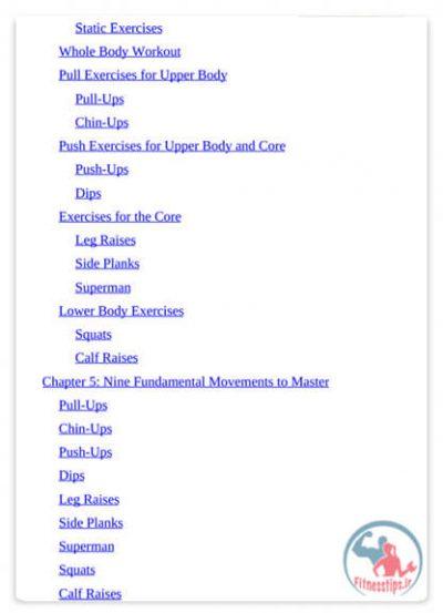 کتاب آموزش تمرینات کالیستنیک