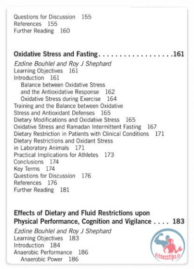کتاب ورزش در روزه داری و شرایط با محدودیت غذایی
