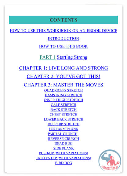 کتاب تمرینات قدرتی میانسالان
