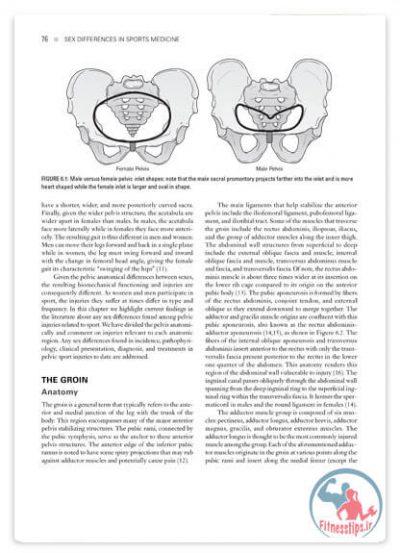 کتاب تفاوت های جنسیتی ورزشکاران